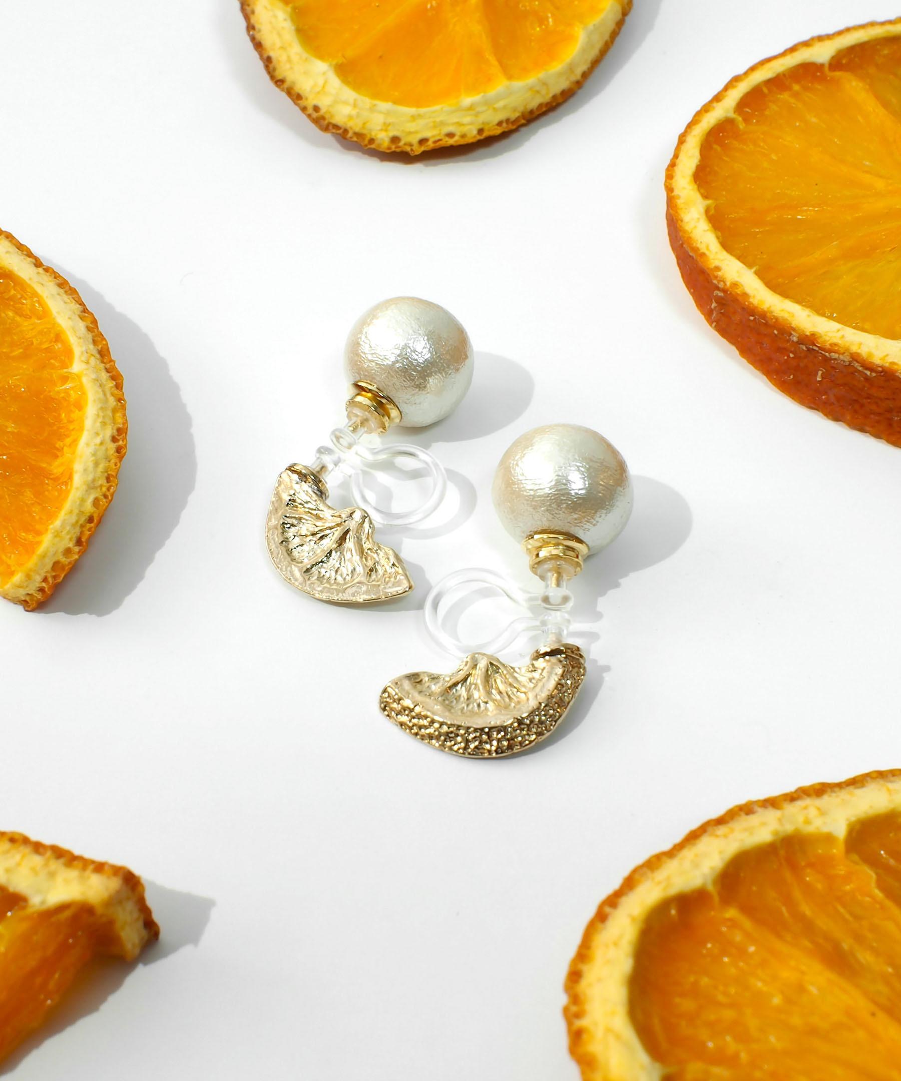オレンジイヤリング