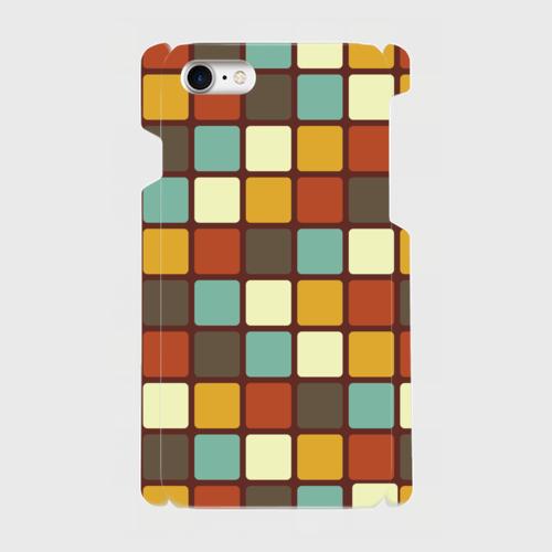 モザイクタイル(カラー)/ iPhoneスマホケース(ハードケース)