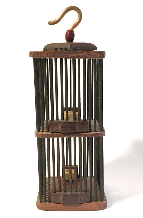 木製虫籠二段 角 小サイズ