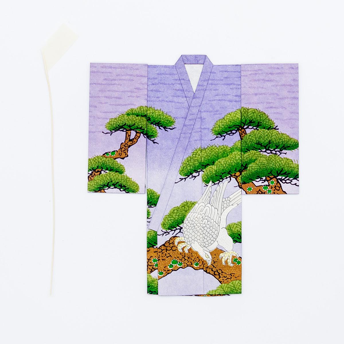 京の七夕さん(紙衣)お仕立上がり 男物柄 紫色