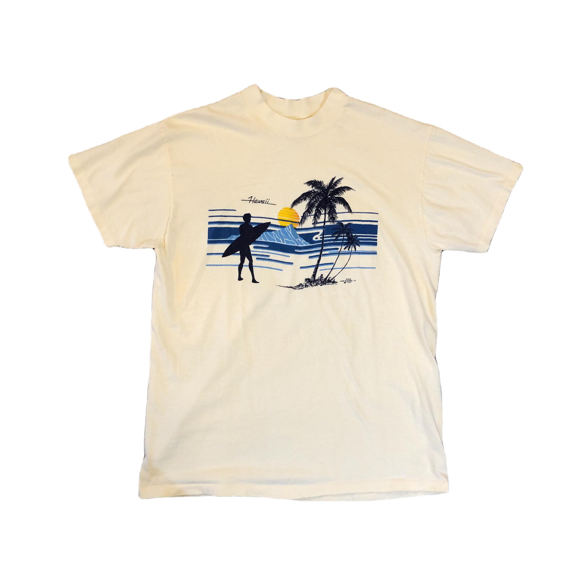 Hawaii 80's Print Tee ¥6,300+tax