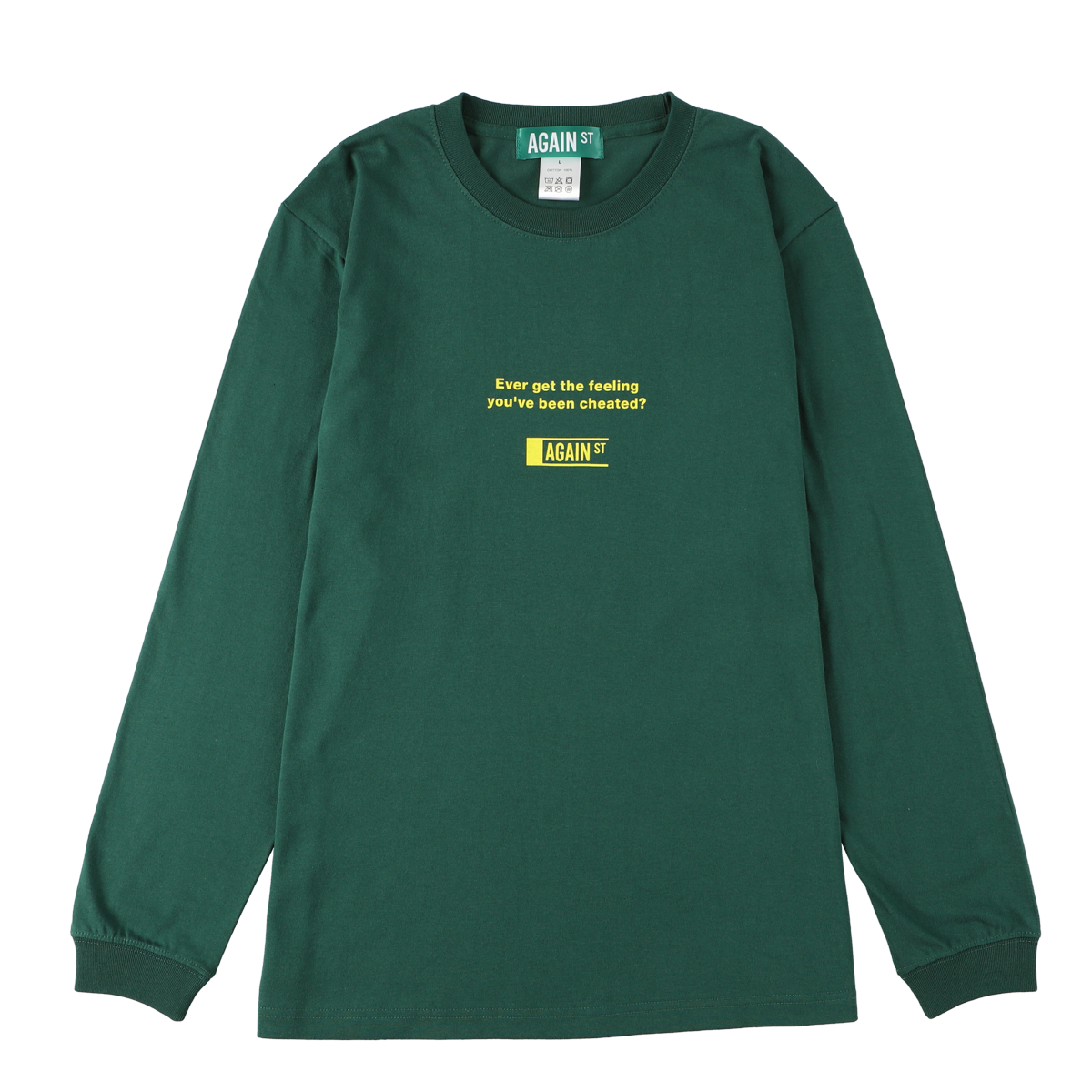 NO FUN L/S tee / Green