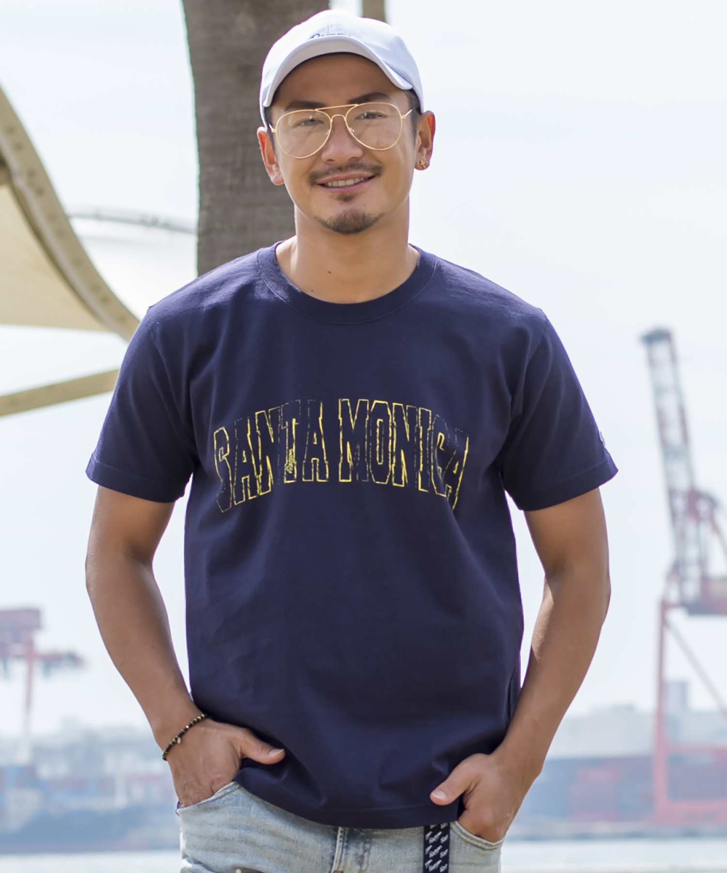SANTAMONICA VINTAGE PRINT T-shirt[REC177]