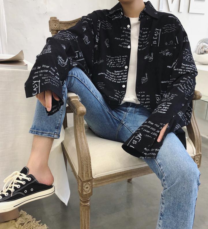 ビッグシルエットデザインロゴジャケット 【全二色】