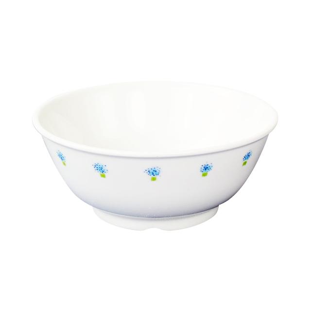 【1087-1050】強化磁器 11cm こども茶碗 花の冠(ブルー)