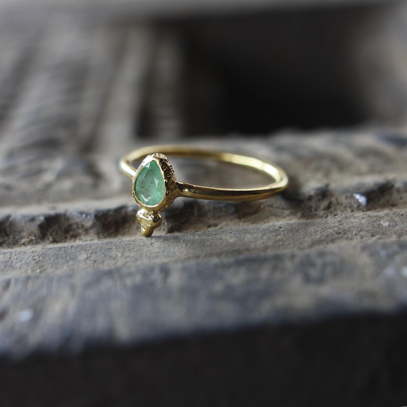 Jaipur gem リング -emerald- #12.5