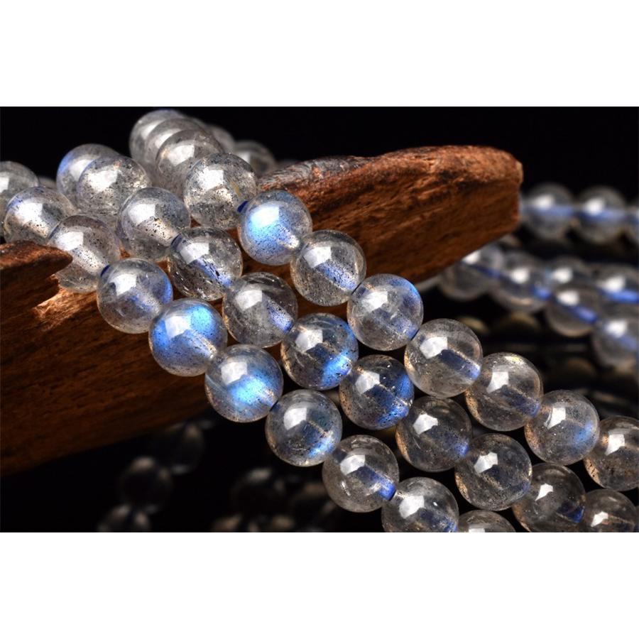 【高次元の存在と繋がる神秘の石】希少天然石 ブルーシラー ラブラドライト 3連ブレスレット(4.5mm)