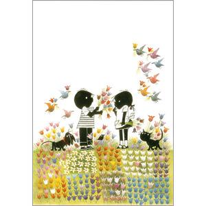 ポストカード チューリップ畑(FO_PO_10060)