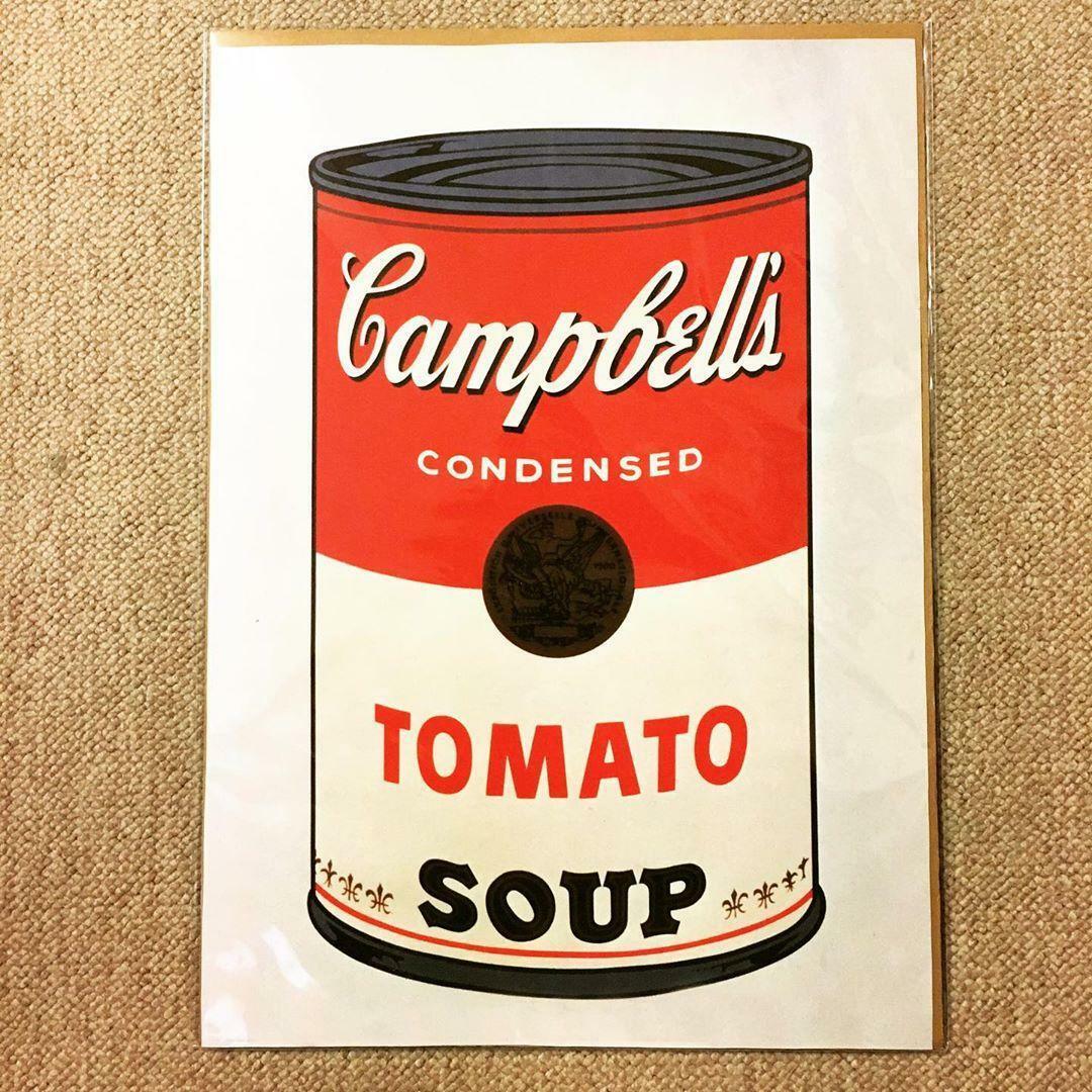 布 ポスター「アンディー・ウォーホル キャンベルのスープ缶(トマト)」小 - 画像1