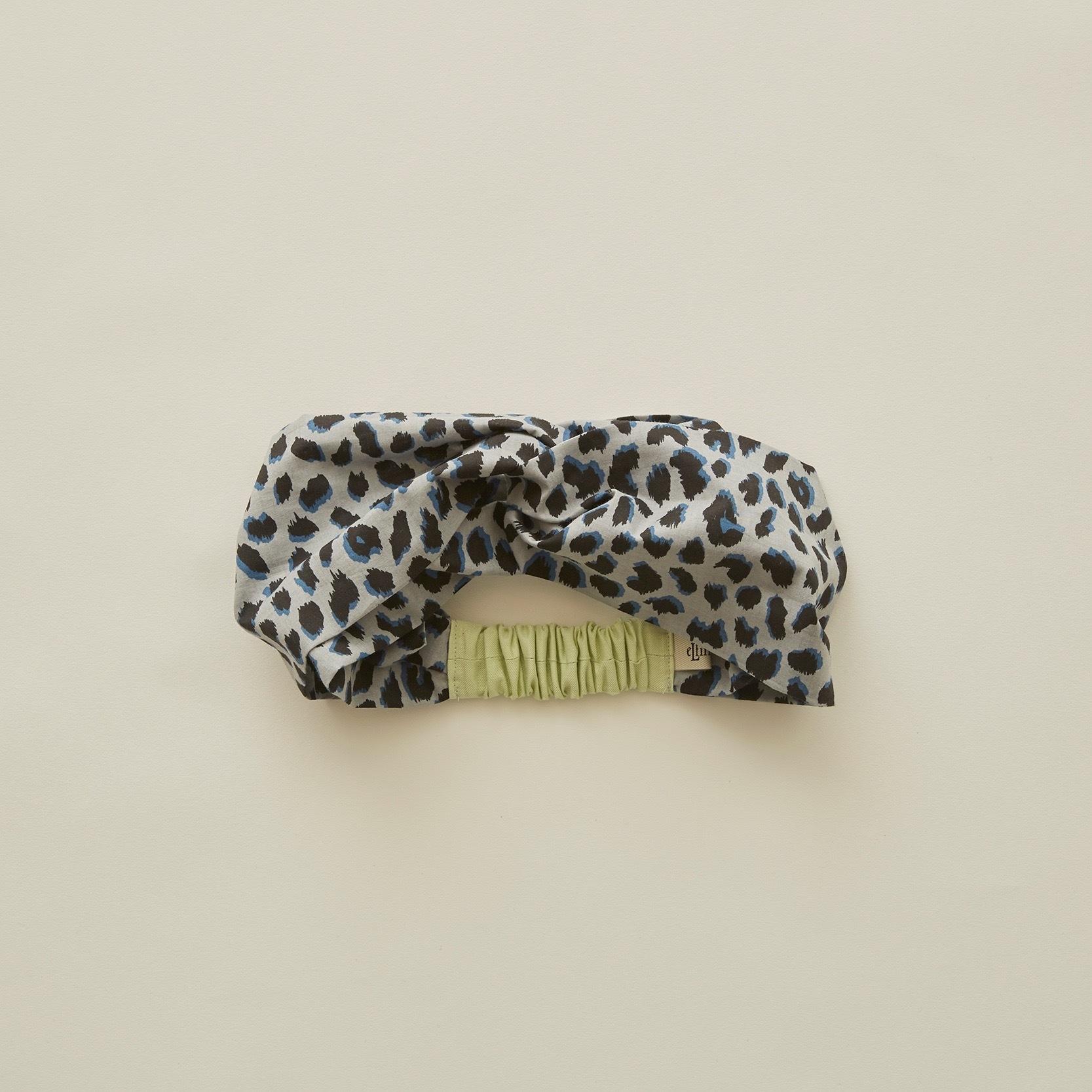 《eLfinFolk 2020SS》leopard turban / gray / 58cm