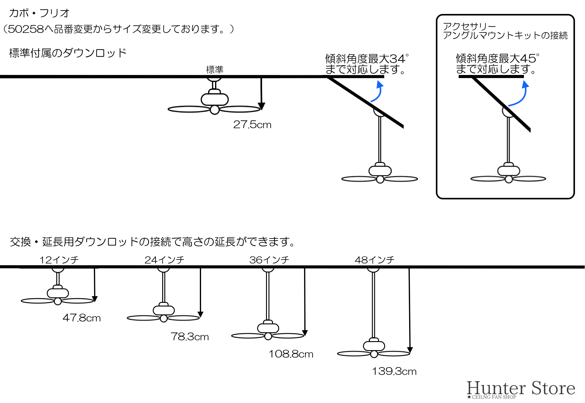 カボ・フリオ【壁コントローラ・12㌅31cmダウンロッド付】 - 画像4