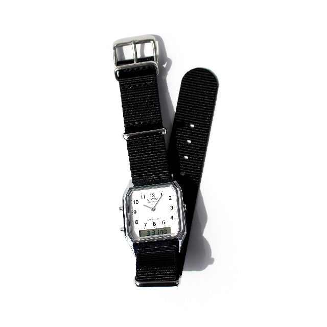 CASIO BASIC WATCH DIGI-ANA 06 / NATO-type Strap / Black