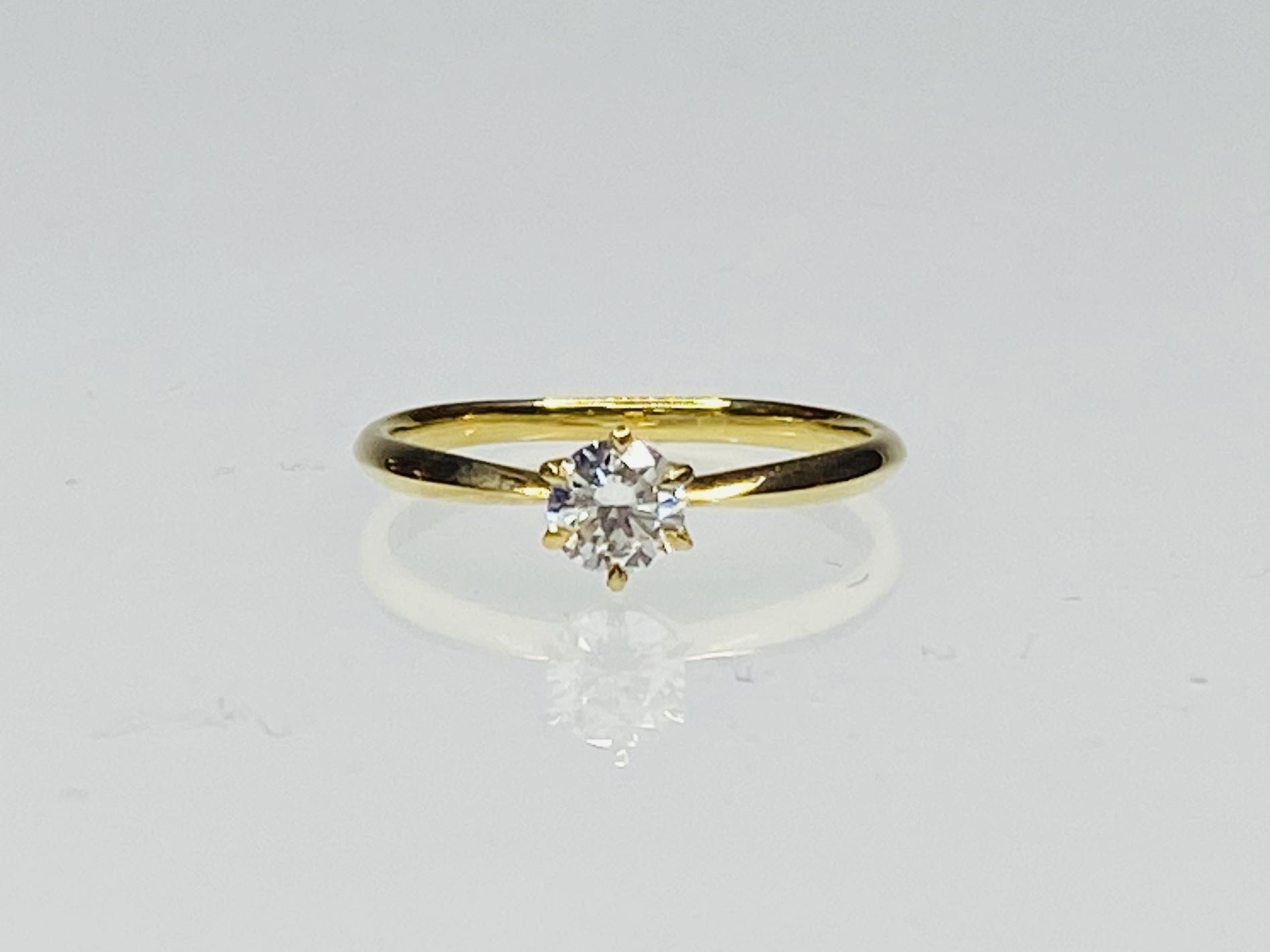 K18 0.317ct H-VVS2-good ダイヤモンドリング ●