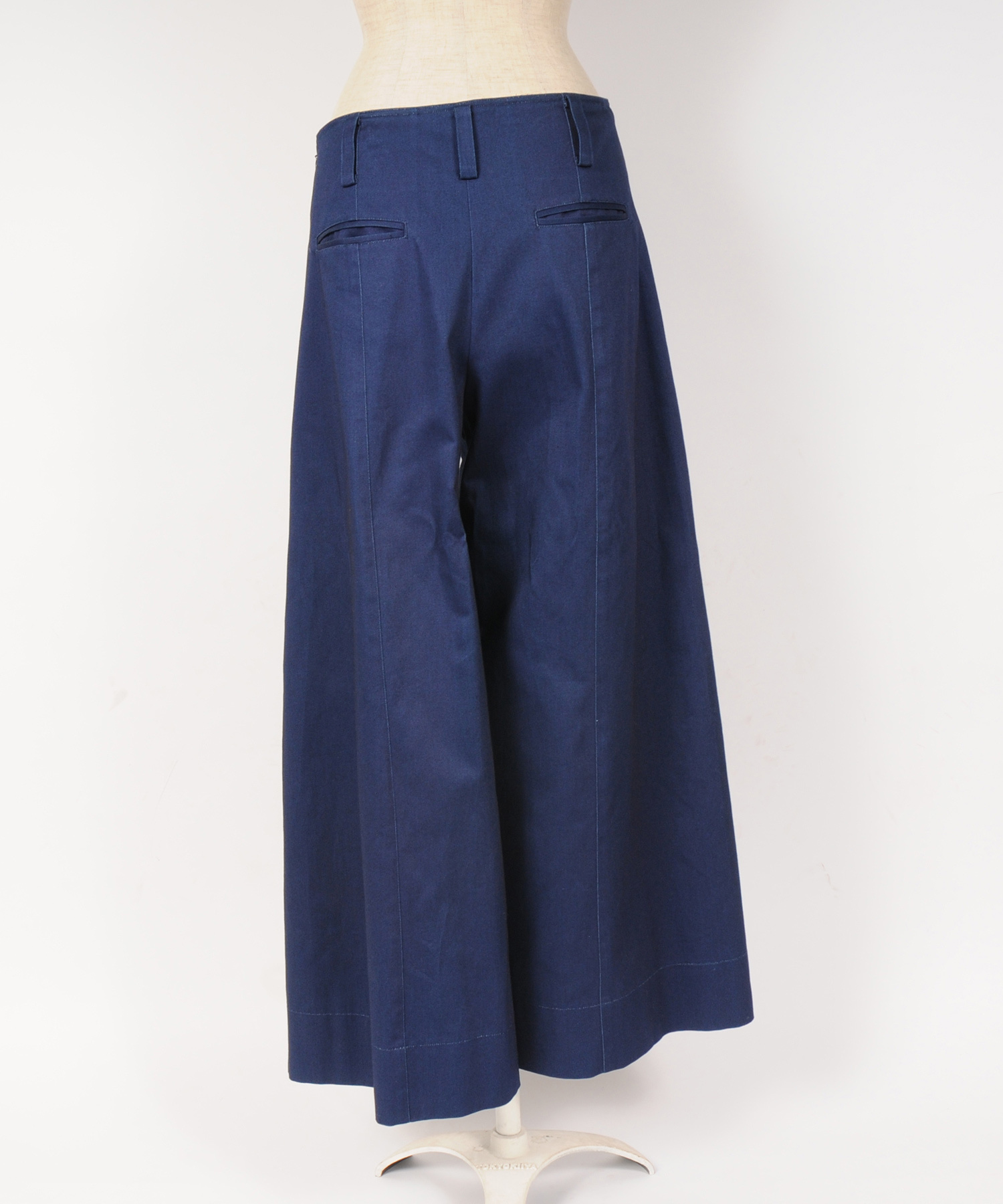 df19SS-21 SLIT WIDE PANTS (indigo)