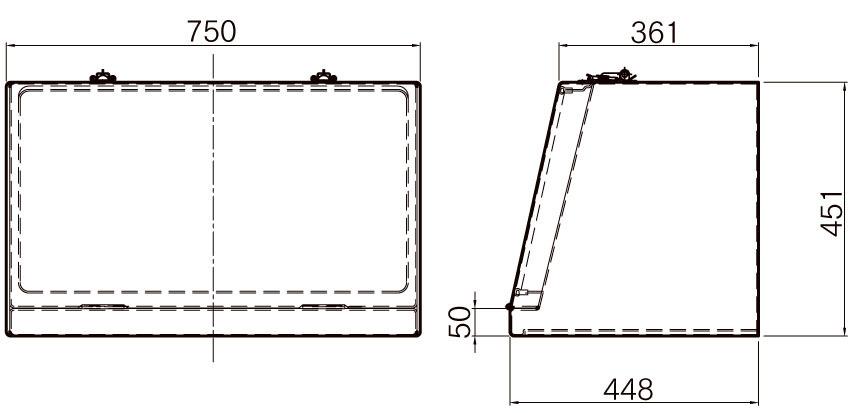 FRP工具箱【NPF-750A 白】