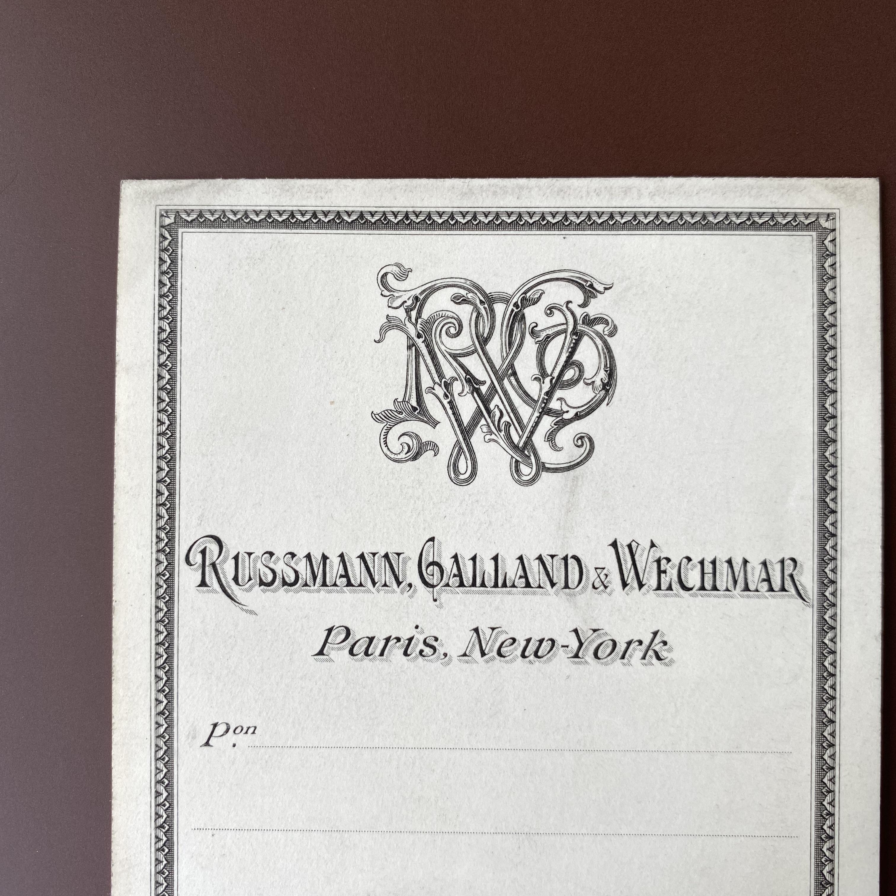 France アンティークラベル(RG&W ) /  vp0118