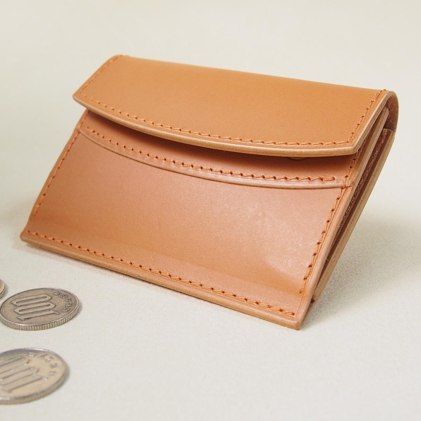 お財布みたいなコインケース#キャメル