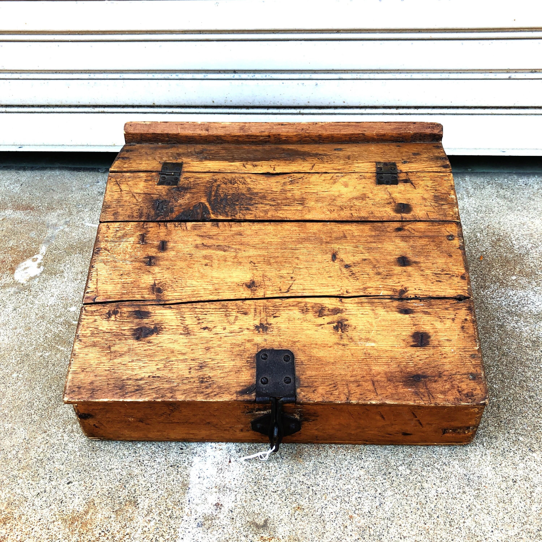 品番1713 ウッドケース ウッドボックス 木箱 蓋付き 1900年カウボーイケース インテリア ディスプレイ アンティーク