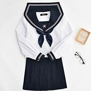 【予約制】桜刺繍ダブルラインセーラー服(上下セット)