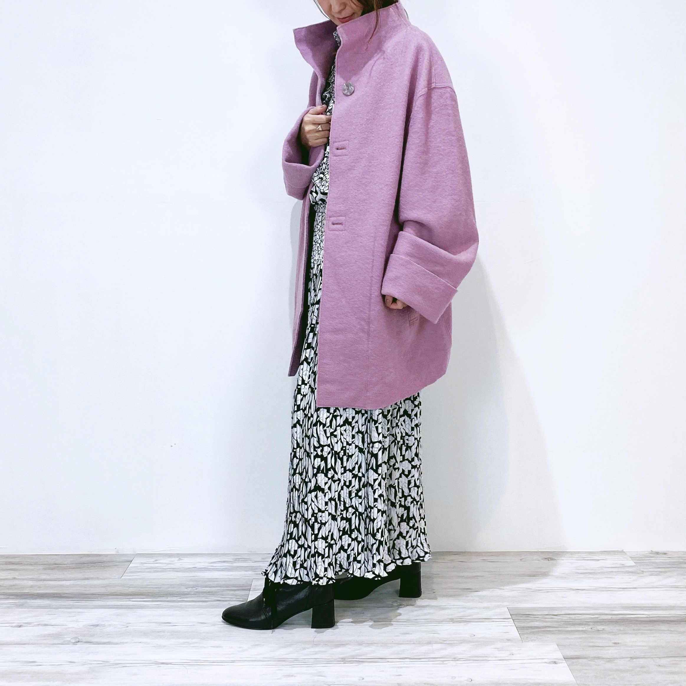 ◼︎90s single face wool stand-up collar coat from U.S.A.◼︎