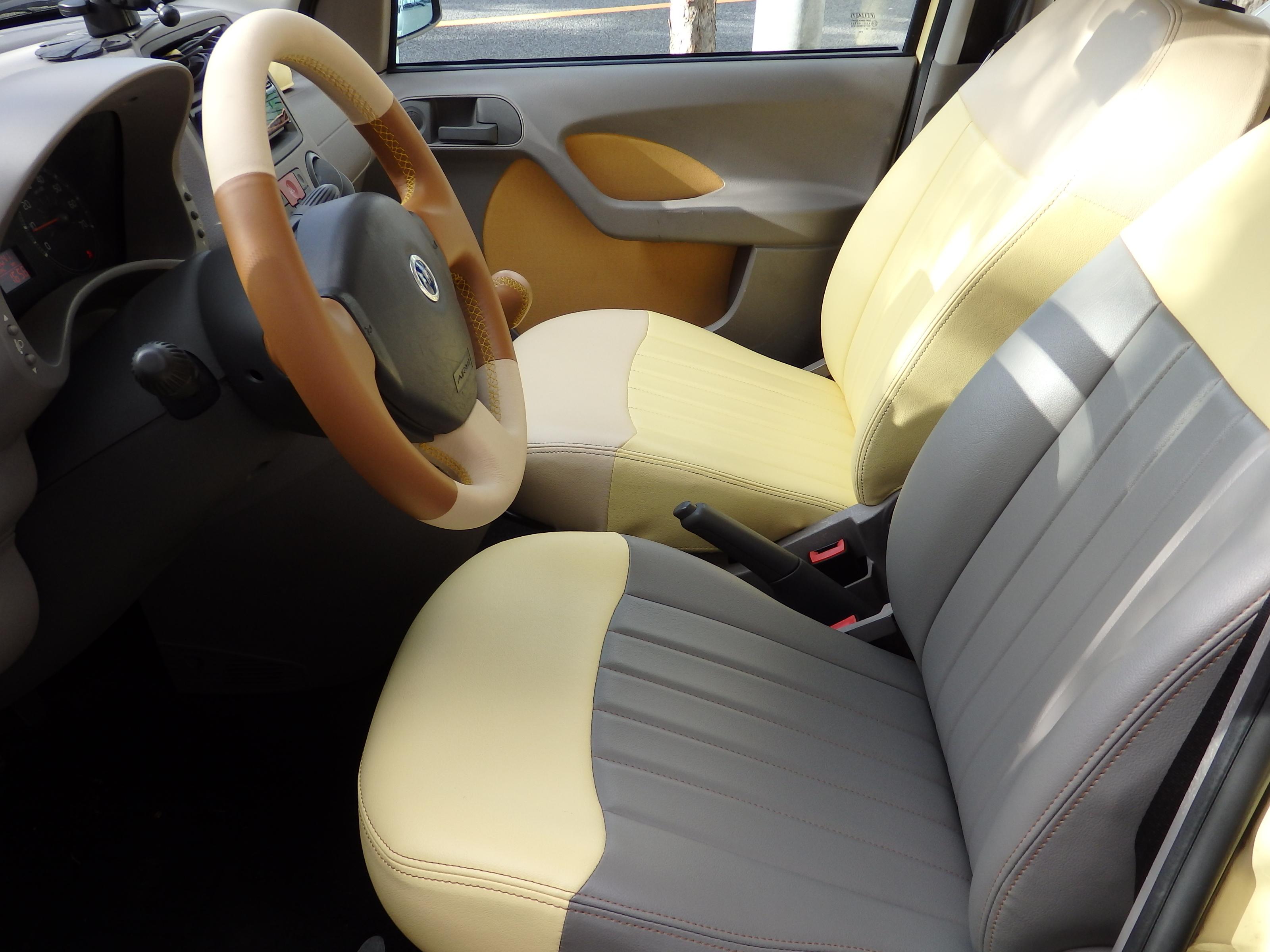フィアット パンダ2(169系)用 PVCレザー製 オリジナルシートカバー