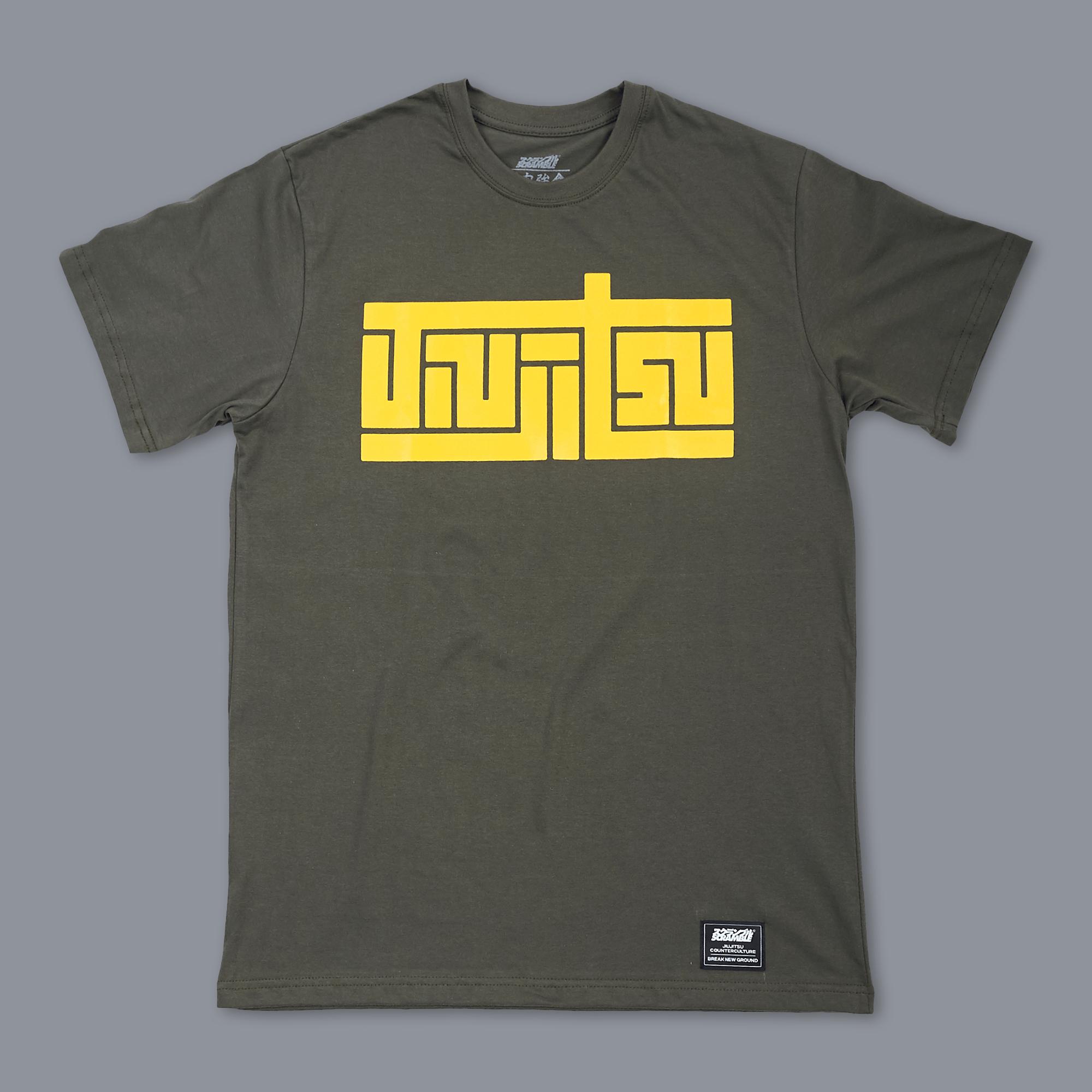 送料無料!Scramble Block Tee - Green|格闘技、柔術Tシャツ