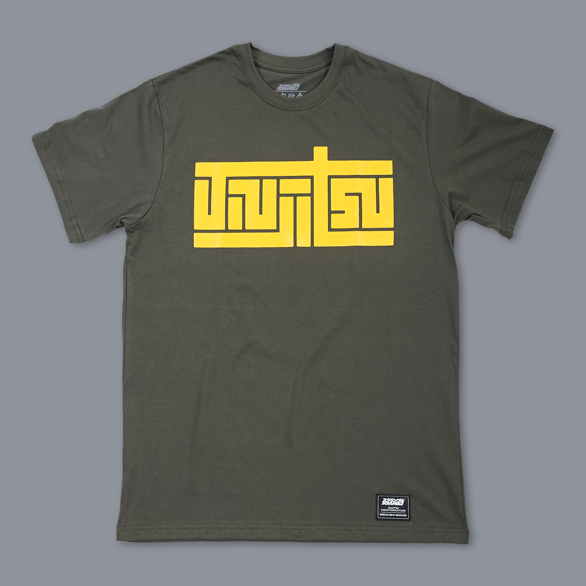 Scramble Block Tee - Green|格闘技、柔術Tシャツ