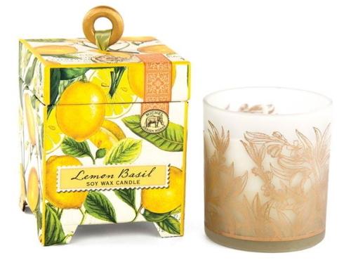 【フレッシュレモン&バジルの爽やかな香り】ミッシェルデザインワークスアロマキャンドル[レモンバジル]
