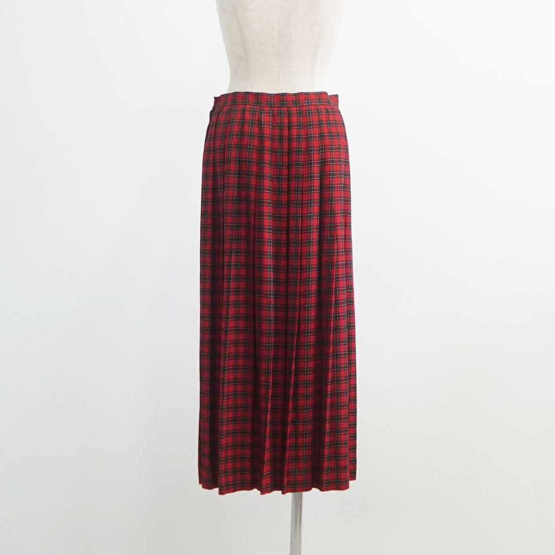 【再入荷なし】 USED 古着 スカート REDチェック (品番used-021)