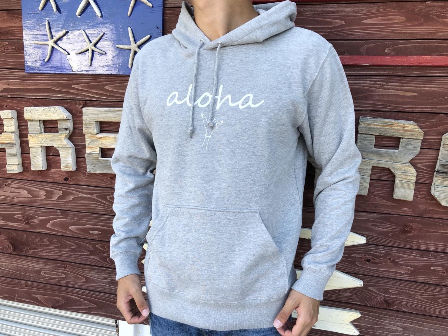 alohaサイン パーカー (gray)