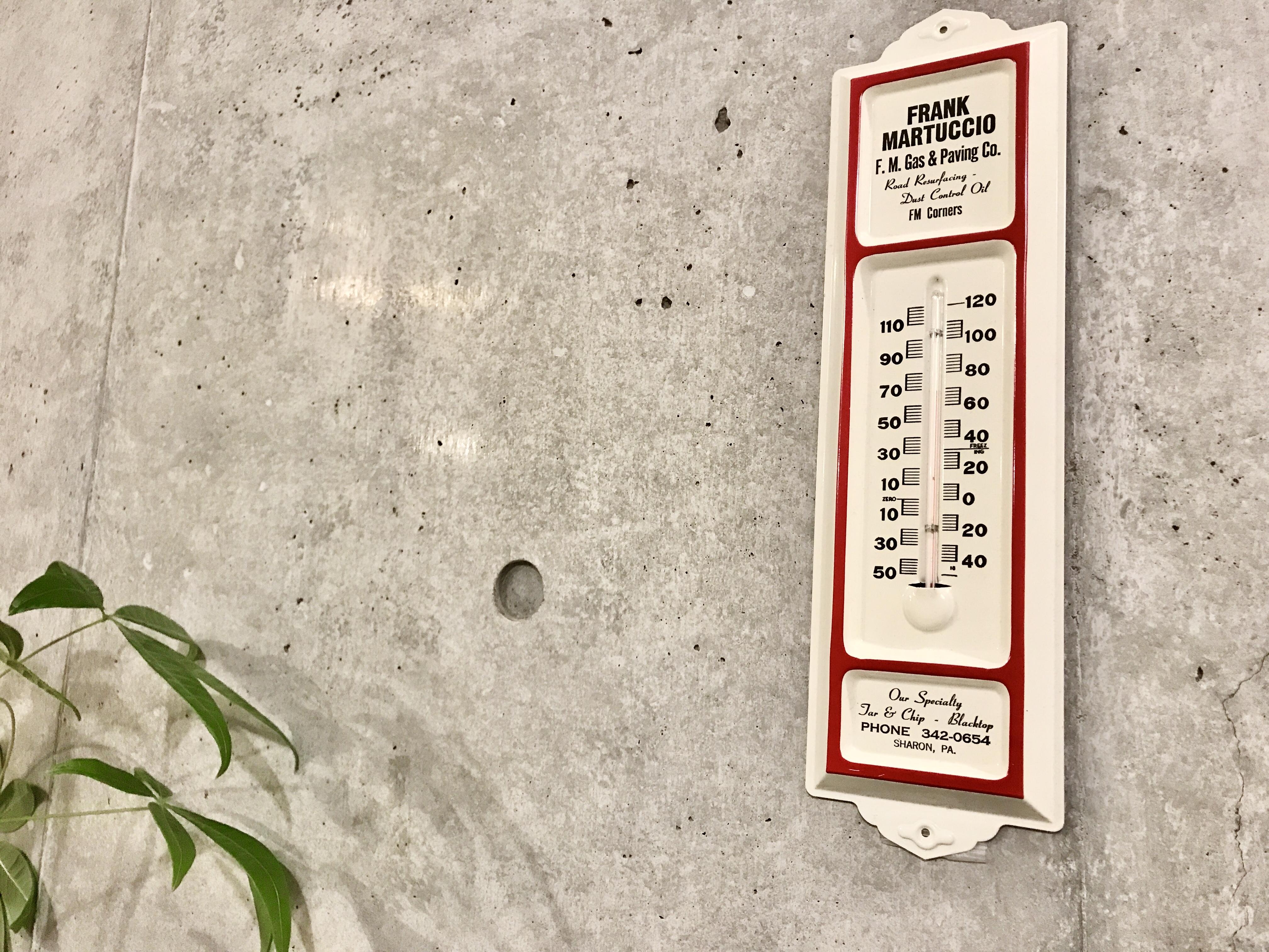"""ビンテージ サーモメーター ガス&ペイント会社 """"FRANK MARTUCCIO"""""""