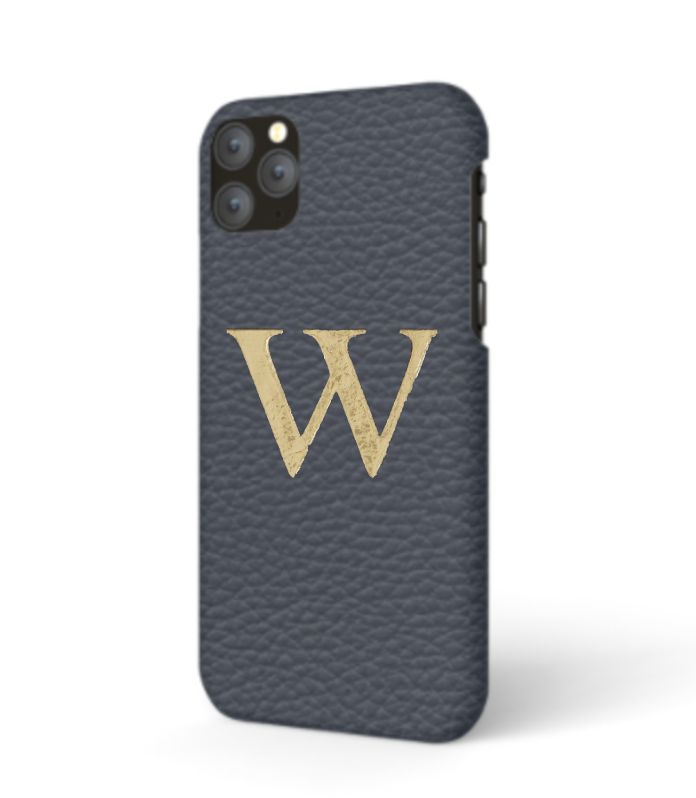 iPhone Premium Shrink Leather Case (Navy)