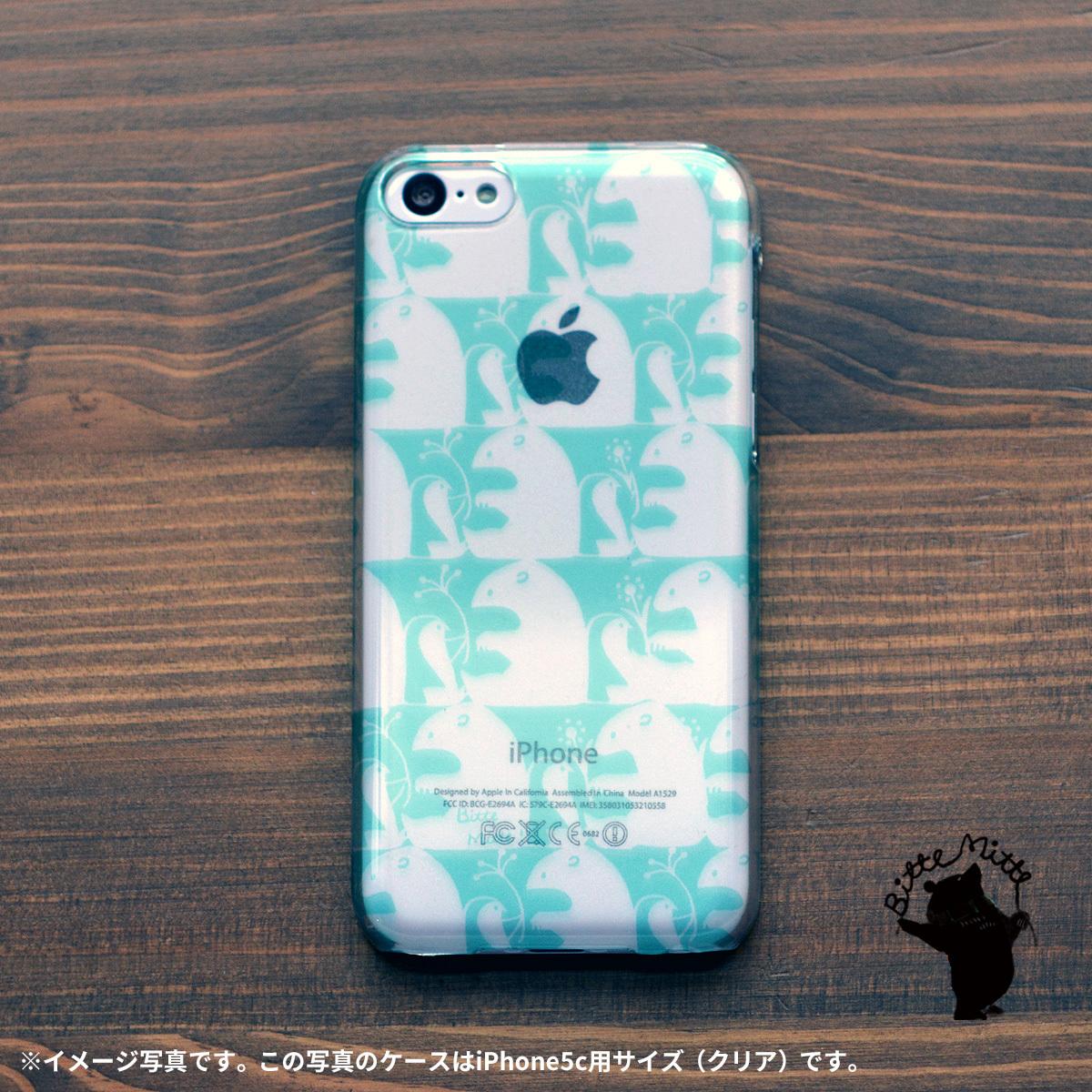 【限定色】シロクマ iphone5c iphone5c ケース しろくま iphone5c クリア ケース キラキラ かわいい 二人のプレゼント(ブルー)/Bitte Mitte!