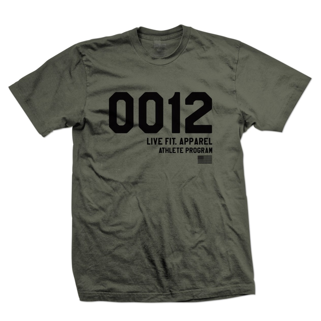 LIVE FIT 0012 Tee - Military Green