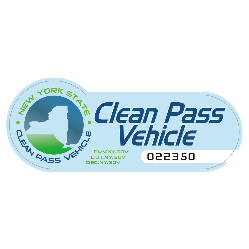 "204 Clean Pass Vehicle NY ""California Market Center"" アメリカンステッカー スーツケース シール"