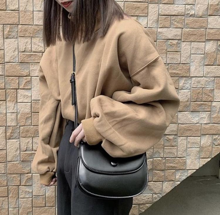 【送料無料】首元あったか♡ トレーナー ハイネック バルーン袖 オーバーサイズ