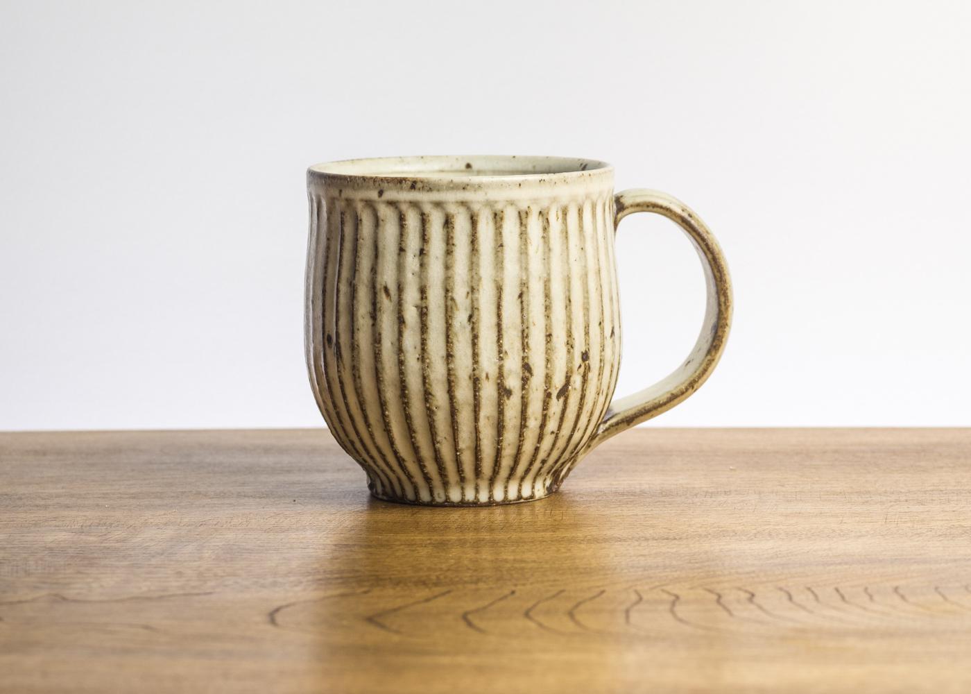 粉引 鎬 マグカップ(大)B/くるり窯