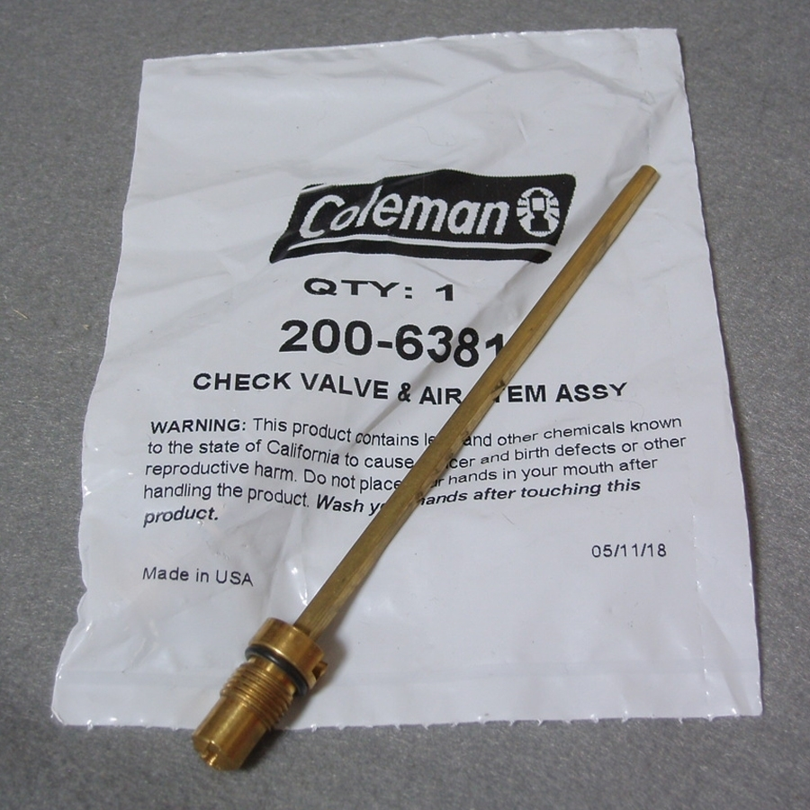 チェックバルブ&エアーステム コールマンランタン用 標準サイズ 200-6381