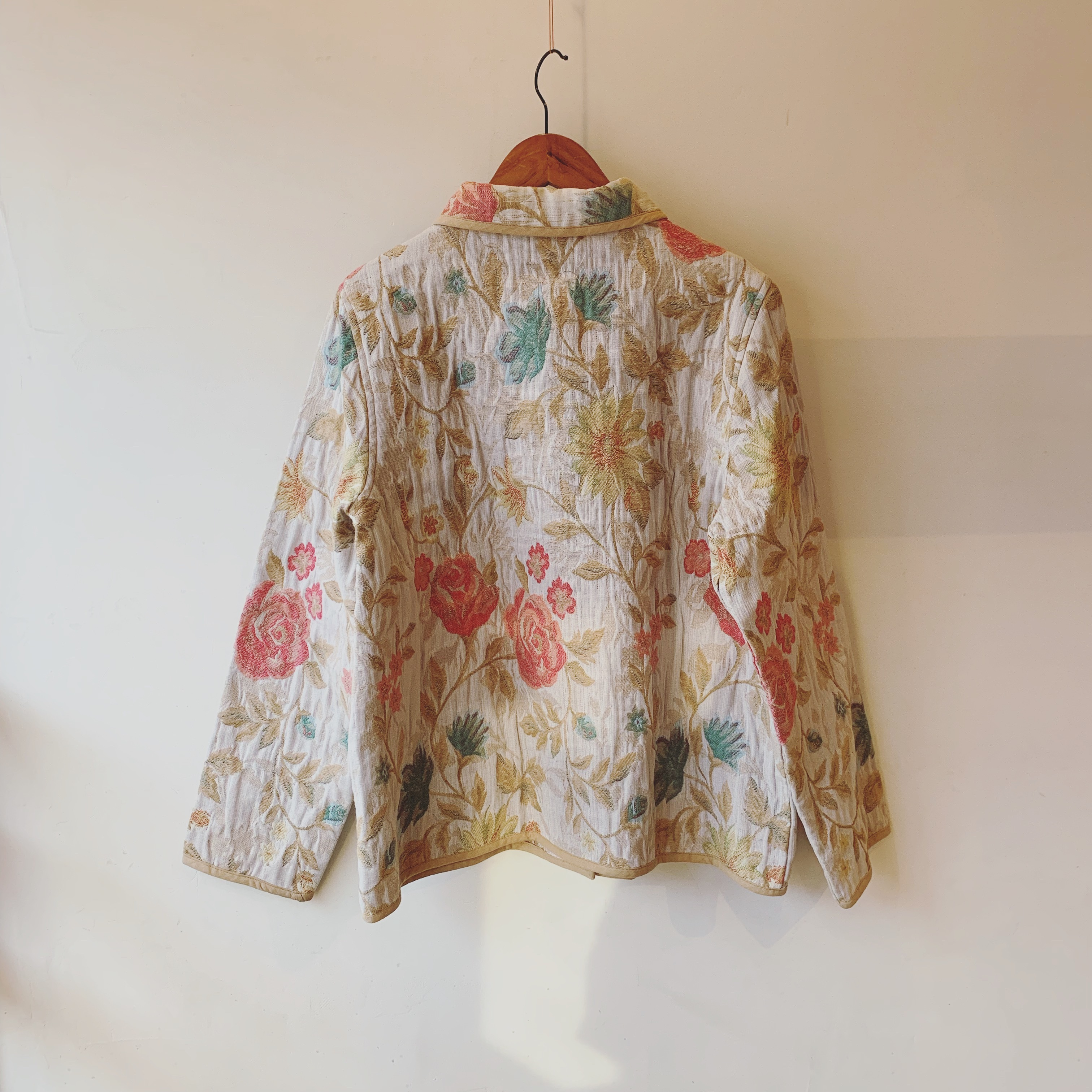 vintage flower design jacket