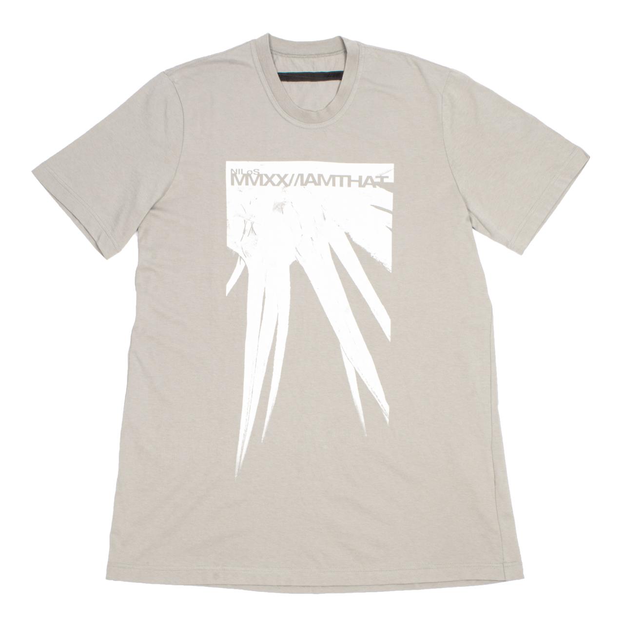 720CPM8-BEIGE / スパイク プリント Tシャツ