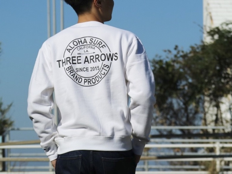 THREEARROWS BP スウェット (white)