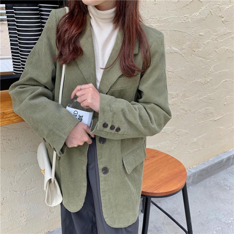 【送料無料】 春先まで着回しOK♡ 大人カジュアル マニッシュ コーデュロイ テーラード ジャケット アウター