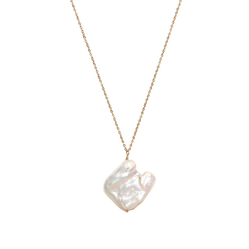 square baroque pearl necklace