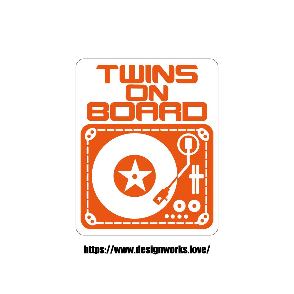 マグネット 全8色 TWINS ON BOARD DJ ターンテーブル