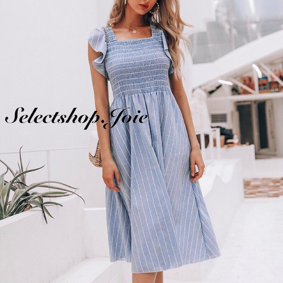 ブルーストライプ サマードレス