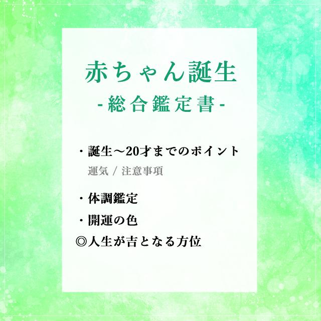 【鑑定書】赤ちゃん誕生 -総合鑑定書-