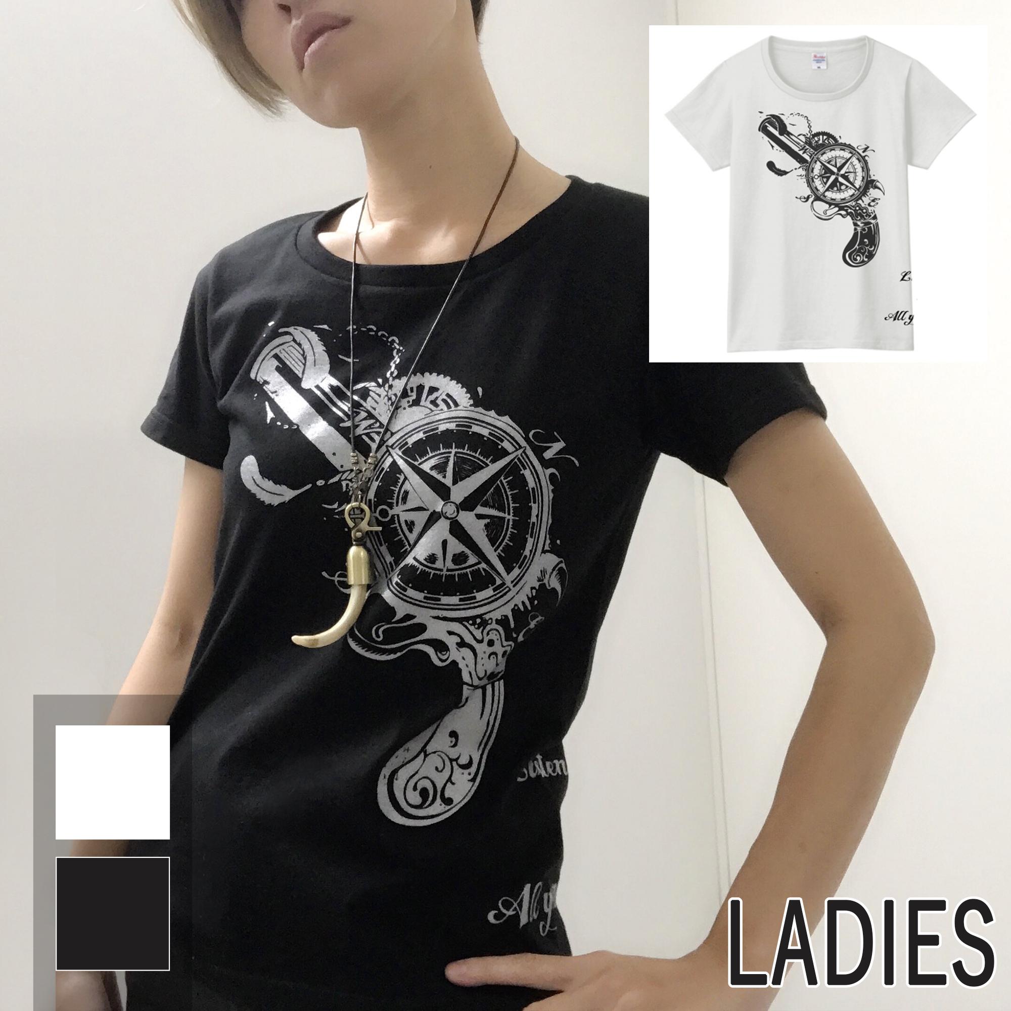 古式銃 × コンパス T-shirt(レディース)
