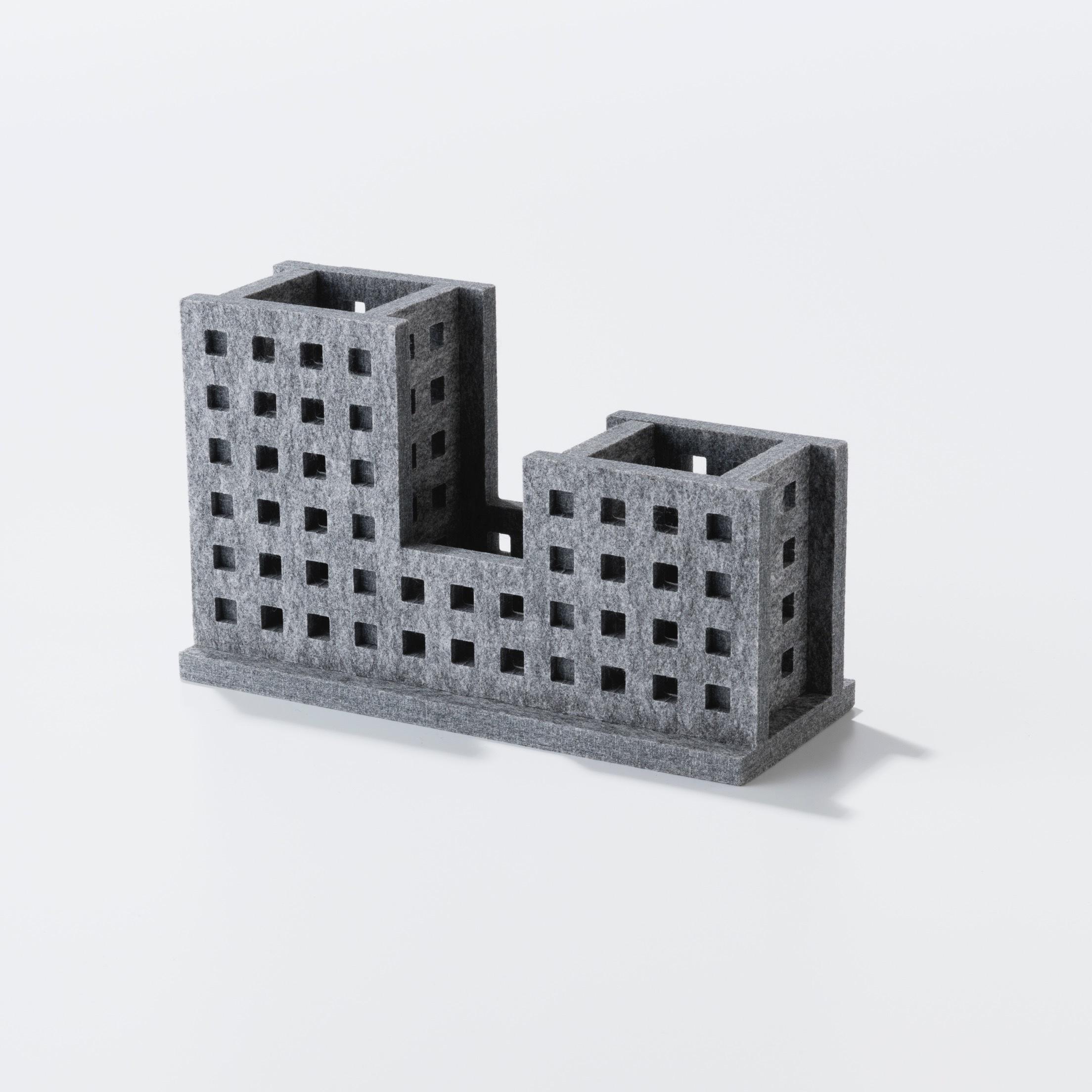 3色展開 DESKTOP ORGANIZER - Building(小物入れ)【日本製】