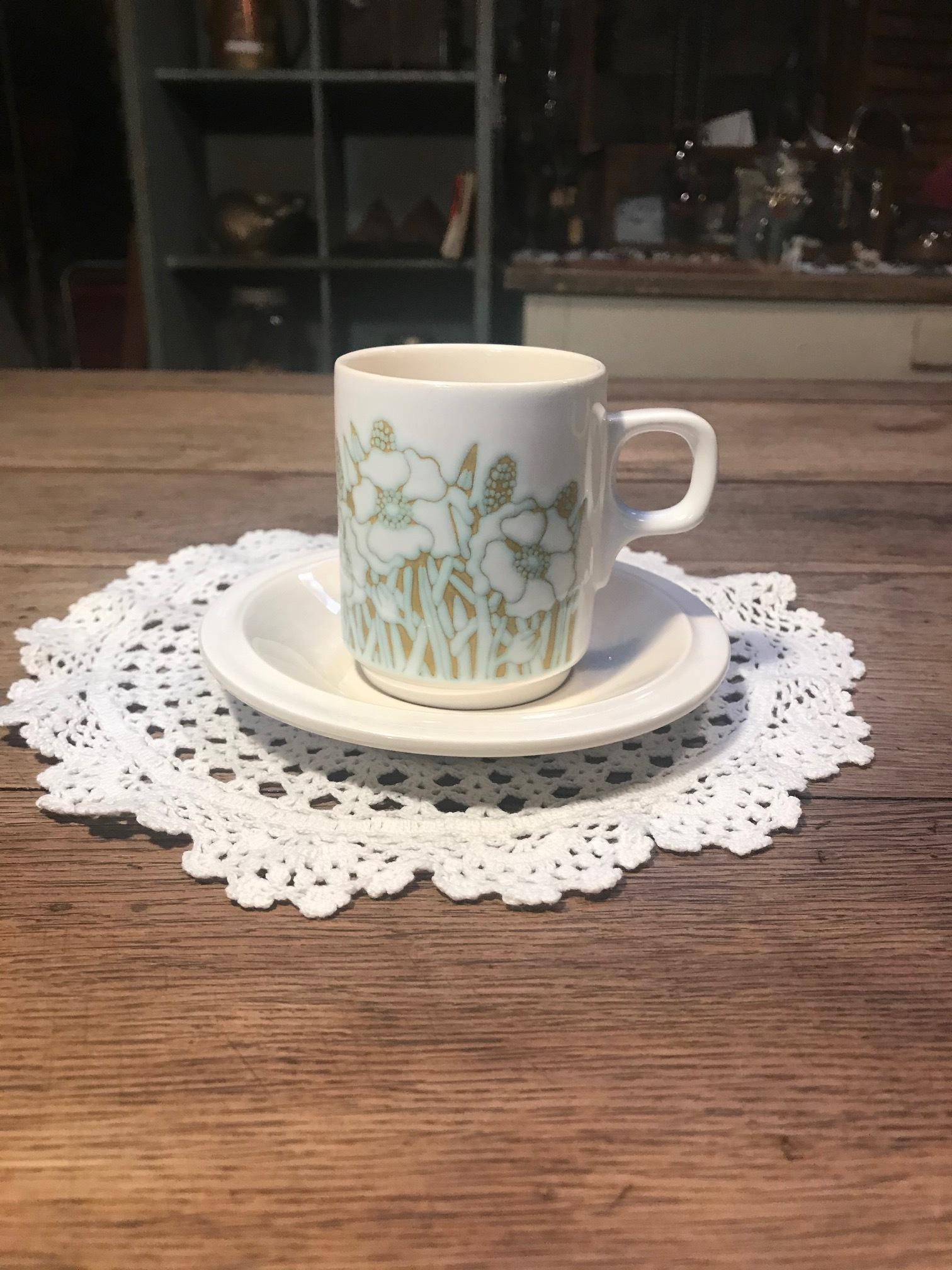 再入荷 Hornsea fleur <ホーンジー> コーヒーカップ&ソーサー A