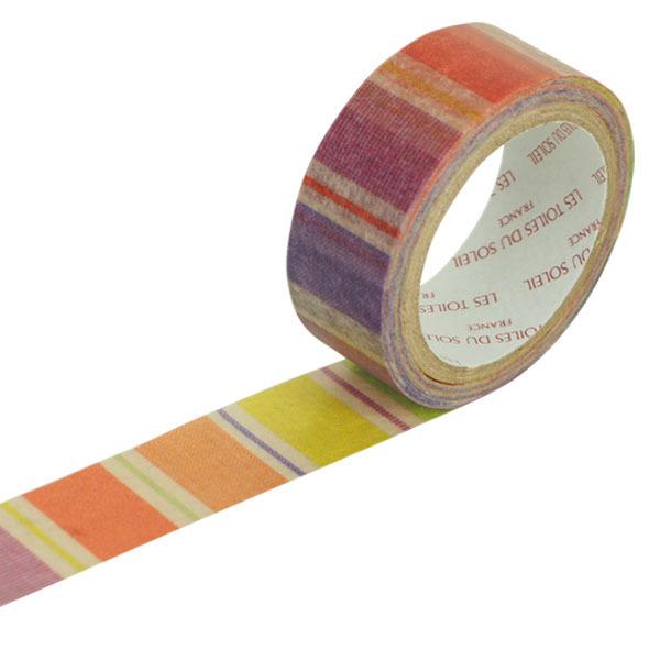 【LES TOILES DU SOLEIL】 マスキングテープ(ジュ ドゥ フリュイ オランジュ/JUS DE FRUITS ORANGE)